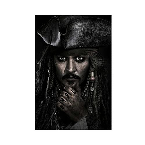 Póster de piratas del Caribe, diseño de hombres muertos con texto en inglés 'Tell No Tales '5' para decoración de pared, para sala de estar, dormitorio, decoración, 30 x 45 cm