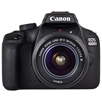 Canon EOS 4000D Camara Con Objetivo EF-S 18-55mm III, 18 MP, Negro