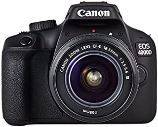 Canon EOS 4000D EF-S 18-55mm III Lens with Tripod, DSLR Bag and 16GB SDHC Memory Card - Black