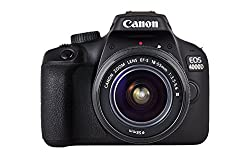 Canon EOS 4000D DSLR Kamera (18 MP, DIGIC 4+, 6,8 cm (2,7 Zoll) LCD Display, EOS Movie Full-HD, CMOS-Sensor Canon APS-C, WiFi) mit Objektiv EF-S 18-55mm III Gehäuse Body schwarz