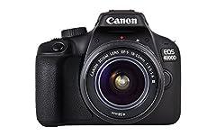 Idea Regalo - Canon Italia EOS 4000D + EF-S DC III Fotocamera Reflex, Nero, Lunghezza Focale 18-55 mm