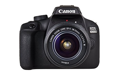 Canon EOS 4000D DSLR Kamera - mit Objektiv EF-S 18-55mm III Gehäuse Body (18 MP, DIGIC 4+, 6,8 cm (2,7 Zoll) LCD Display, EOS Movie Full-HD, CMOS-Sensor Canon APS-C, WiFi), schwarz