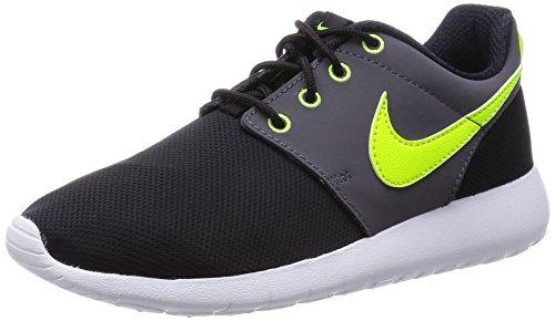 Nike Roshe One (Gs) Scarpe da Ginnastica, Unisex - Bambino, Nero (Black/Volt-White-Dark Grey), 36.5