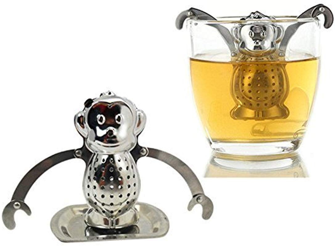 Stainless Steel Dunkin Monkey Tea Infuser Drip Tray Monkey