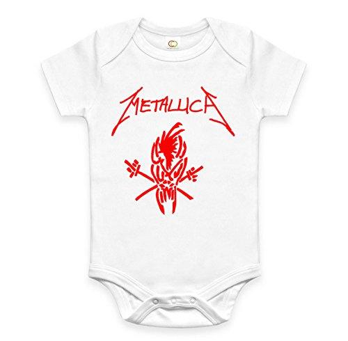 Rare New Hard Rock Metallica Baby Boy Girl Clothes Cotton Bodysuit Onesie Romper (12-18 months)