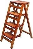 DAGCOT Pliante Étape Chaise d'échelle en Bois Massif Tabouret - Tabouret Pliant for la bibliothèque - Tabouret - Tabouret Multifonction Fait de Bois Blanc - (Color : C)