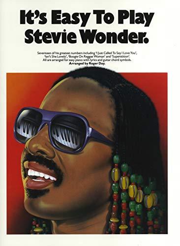 It\'s Easy To Play Stevie Wonder. Partitions pour Piano, Chant et Guitare(Symboles d\'Accords)