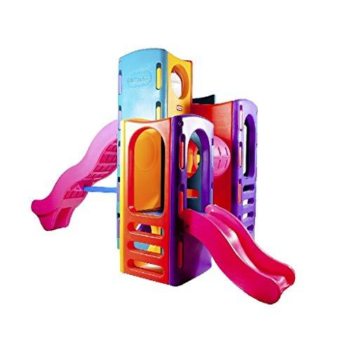 Little Tikes Tropical Spielplatz - Lustiges Sommerspielzeug und Klettergerüst für draussen - Mit Kletterwänden, 2 Rutschen, 4 Spielstufen und mehr - Fördert Aktives und Fantasievollen Spielen - für Kleinkinder ab 3 bis 6 Jahren