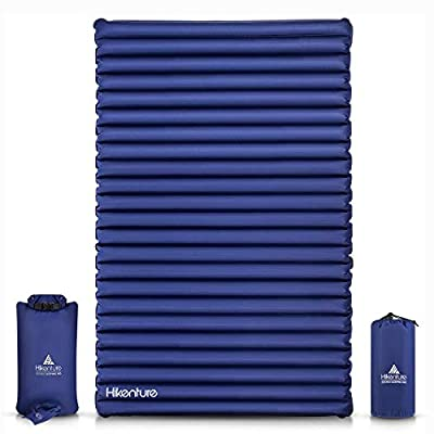 Hikenture Double Camping Pad Large Inflatable Air Mattress with Pump Bag - for Backpacking, Self-Driving Tour, Hiking, Tent (Large)