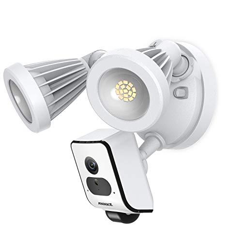 ANNKE Floodlight Camera, Kameraleuchte Außenleuchte,WLAN Überwachungskamera aussen mit Gegensprechanlage,AI+PIR Bewegungssensor,Push-Nachrichten