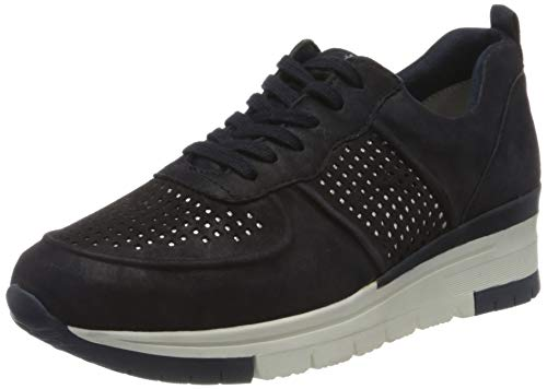 Tamaris Damen 1-1-23745-24 Sneaker, Blau (Navy PEA/Punch 885), 41 EU