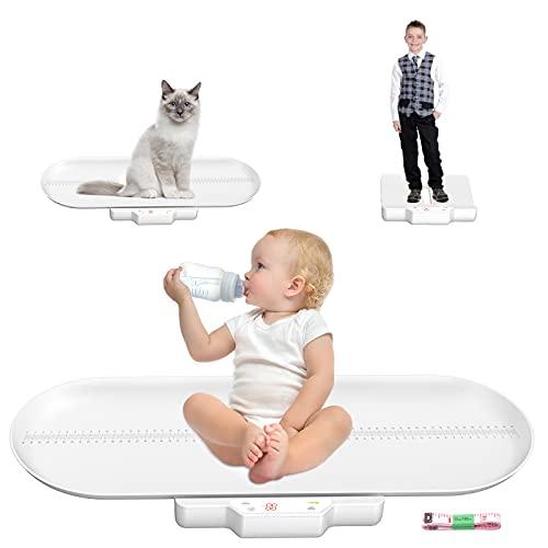 Pèse Bébé,balance pese personne,pour bébé Affichage rétro-éclairé Split Design 100kg Capacité avec Plateau Amovible