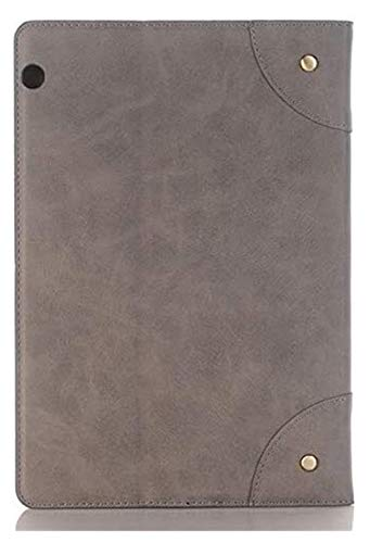 Accesorios De Pestañas para Huawei MediaPad T3 10 Funda AGS-L09 AGS-W09, Tableta De Negocios De Lujo Tablet Tapa Inteligente para Huawei Mediéspad T 3 10 9.6 Pulgadas (Color : Gray)