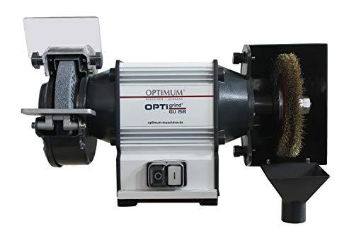 Optimum Kombischleifmaschine OPTIgrind GU 15B (mit Schleifscheibe und Rundbürste, wartungsfreier Motor), 3101600