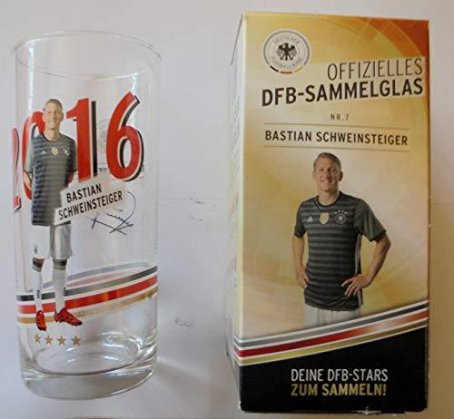 Offizielles DFB Sammelglas Fussball EM 2016 Rewe Ovp Bastian Schweinsteiger Basti