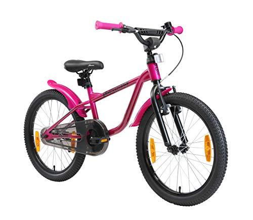 LÖWENRAD Kinderfahrrad für Jungen und Mädchen ab 6 Jahre | 20 Zoll Kinderrad mit Bremse | Fahrrad für Kinder | Berry