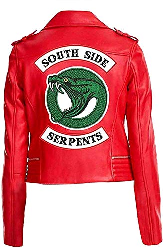 Riverdale Southside Serpents Giacca in ecopelle, da donna rosso Rosso – 1. xl
