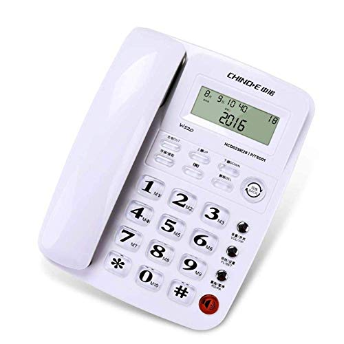 YGB Teléfono con Cable Byged, teléfono con Cable con Altavoz, Pantalla y teléfono de identificación de Llamadas para la Cocina del hogar, la Oficina del Hotel (Blanco) (Color: Blanco)
