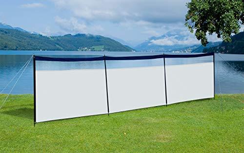BERGER Windschutz Strand Sichtschutz weiß Garten Sonnenblende See 600cm Campingplatz Sonnenschutz