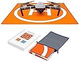 Hensych RC Drone Landing Pad étanche Portable Pliable Tapis d'atterrissage pour Mavic Air avec sac de rangement de transport, double face Motif coloré