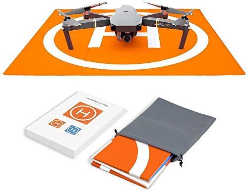 Hensych RC Drone Landing Pad Impermeable PU portátil Plegable Landing Mat para...