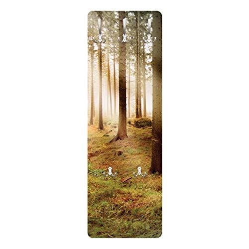 Apalis Garderobe Flurgarderobe mit Schrauben Morning Forest Modern 139 x 46 cm