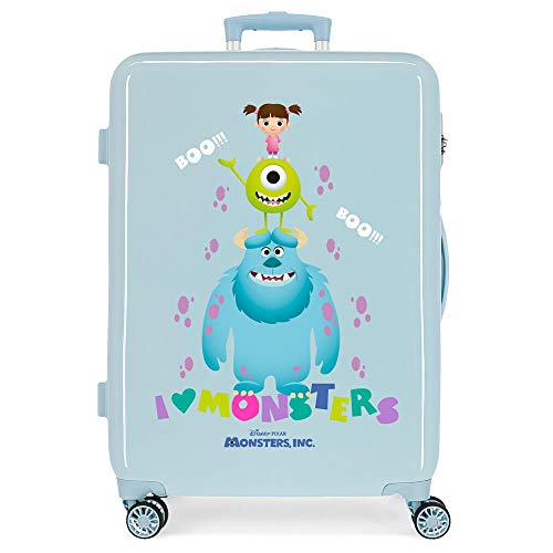 Disney Boo! Medium Blue Suitcase 48 x 68 x 26 cm Rigid ABS Side Combination Closure 70L 3.3 kg 4 Double Wheels