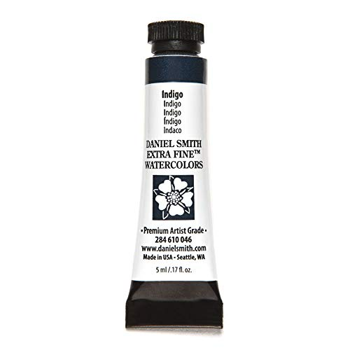 DANIEL SMITH 284610046 Extra Fine Watercolors Tube, 5ml, Indigo