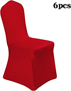 Desirable Life 1/4/6/10PCS Removable Spandex Stretch Dining Chair Cover Slipcover Protector for Party Wedding Banquet Celebration, Multi Colors for Choice