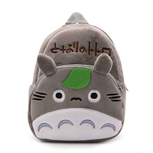 CHDJ - Mini zaino in peluche per neonata, 1-3 anni, Totoro (Grigio) - shoulder-handbags