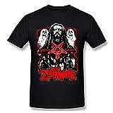 Rob Zombie Camiseta gr¨¢fica de Manga Corta de Algod¨®n a la Moda para Hombres y j¨®Venes, 3X-Grande