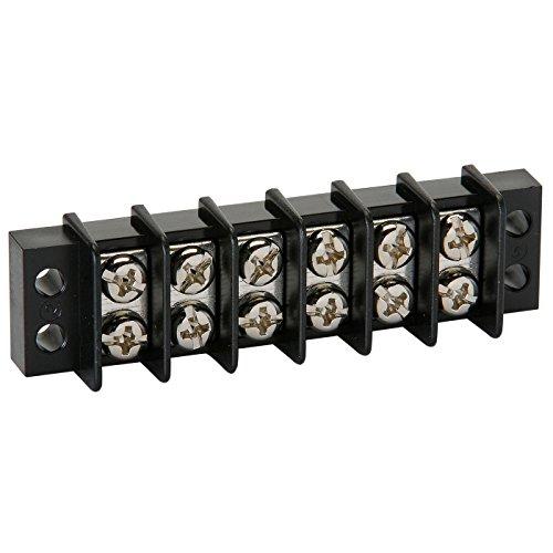 NTE Electronics 25-B500-06 Series 25-B500 Terminal Block Barrier Strip, Dual Row Panel Mount, 20 Amp, Dual Row, 6 Pole, 9.50 mm Pitch, 300V, 22-14 AWG Wire Range