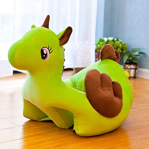 JJZXD Sofá para niños Asiento de Apoyo para Aprender a Sentarse Felpa Cómoda Nido para niños pequeños Puff Funda Lavable Piel para sofá de bebé (Color : Green)