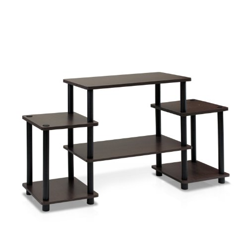 Furinno Turn-N-Tube No Tools Entertainment TV Stands, Dark...