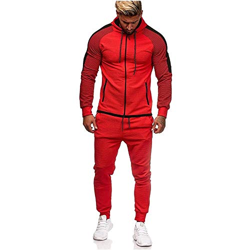 UMore Herren Trainingsanzug | Jogginganzug | Sportanzug | Jogging Anzug | Hoodie-Sporthose | Jogging-Anzug | Trainings-Anzug | Jogging-Hose