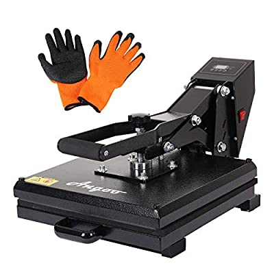 "Angoo Heat Press,Upgrated 15"" x15"" Digital Heat Press Machines Industrial Sublimation Printer Press Heat Transfer Machine for T-Shirt, Mouse Pad, Canvas Bags"