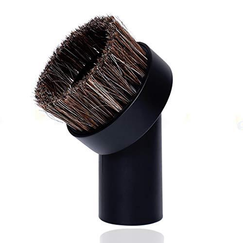 Round Dust Brush, Vacuum Brush Attachment Replacement, Universal Soft Horsehair Bristle Vacuum Cleaner Dust Brush, 25mm Horse Hair Brush,1.25'1-1/4' 32mm Vacuum Cleaner Brush Vacuum Attachment, Black
