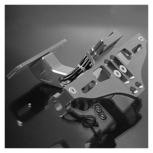 Für HON-DA CBR 250RR 400RR 600RR 900RR 954RR 1000RR 125R 250R 300R 400R 500R CB1000R VFR Motorrad-Kennzeichenhalterung Motorrad-Kennzeichenhalter (Farbe : Titanium)