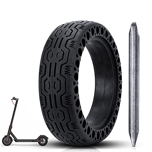 azamp 8 1/2 Honeycomb neumático de Goma Maciza, Neumático de Rueda de Repuesto de 8.5 Pulgadas neumático de Scooter sólido,para Rueda Llanta de Patinete Scooter Eléctrico Xiaomi M365 (Negro)