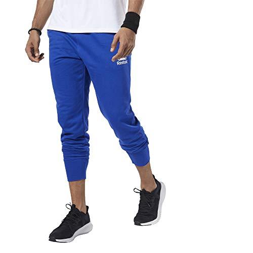 Reebok Herren Te Ft Jogger -Linear Logo Hose, Kobaltblau, XS