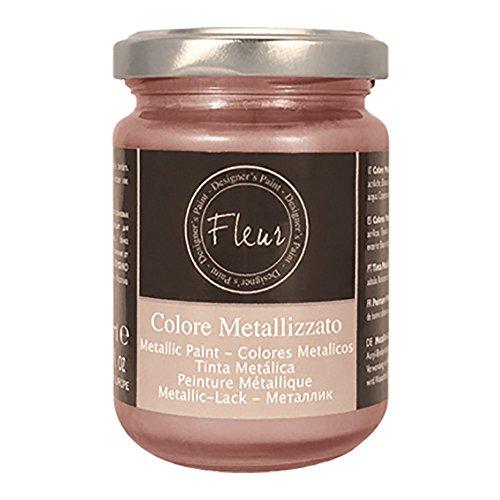 Fleur Designer'S Paint Fleur Colore Metallizzato - 130 Ml - F93 Cosmo Rose Gold