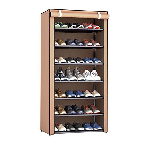 Leisuretime - Organizador de zapatero para armario de 8 pisos, organizador de zapatos robusto de tela no tejida, soporte para zapatos antipolvo, estante para armario