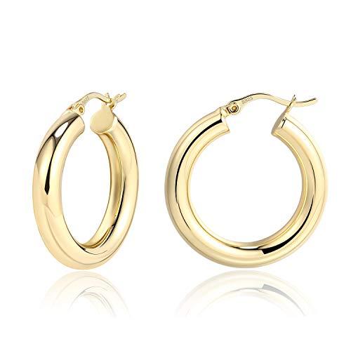 Lightweight Chunky Hoops | 14K Gold Plated Hoops Earrings for Women