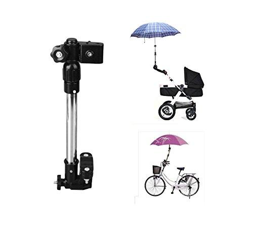 Kompassswc Kinderwagen Regenschirmhalter Rollator Teleskopisch Schirmhalterung Sommenschirm Halterung Babywagen zubehör (30cm-42cm Ausziehbar)