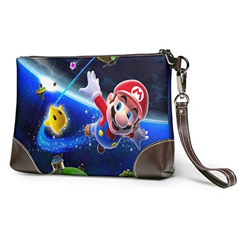 XCNGG Cool PunchFashionable Leather Clutches, Handbags, briefcases, Soft Leather Wristband Clutches with Zipper