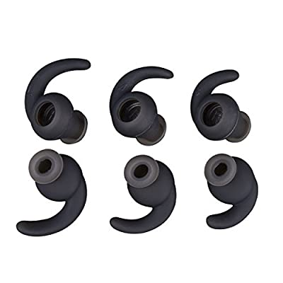 3 Pairs (S M L) Anti-Slip Silicone Eartips Earbuds Eargels for JBL Synchros Reflect BT Sports Wireless Earphones