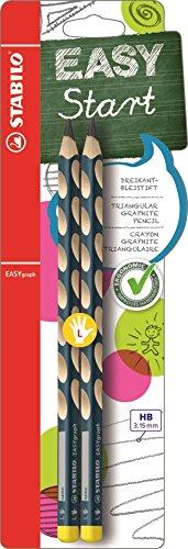 Matita Ergonomica triangolare - STABILO EASYgraph per Mancini in Petrolio - Pack da 2 - Gradazione HB