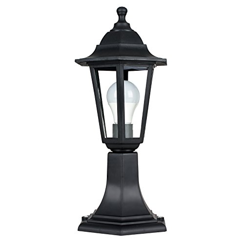 Traditional Black IP44 Outdoor Garden Lamp Post Lantern Light