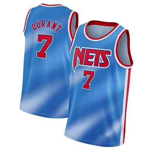 CLKJ 2021 Temporada Nets # 7 Kevin Durant y 11 Irving Basketball Jersey, Camiseta de Camiseta de Malla cómoda para Hombre de Secado rápido para Hombre #7 B-S