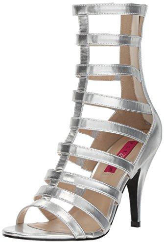 Pleaser Pink Label Women's Dre438/Spu Ankle Bootie, Slv Met Polyurethane, 12 M US